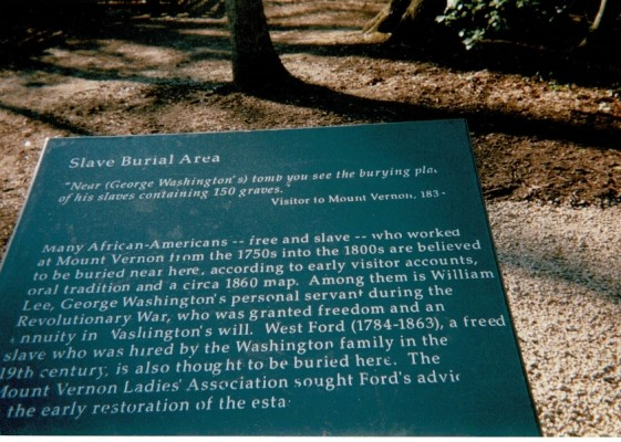 Plaque At Mount Vernon In Honor Of West Ford Official